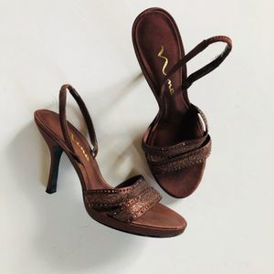 NINA Copper Slingback Sandals